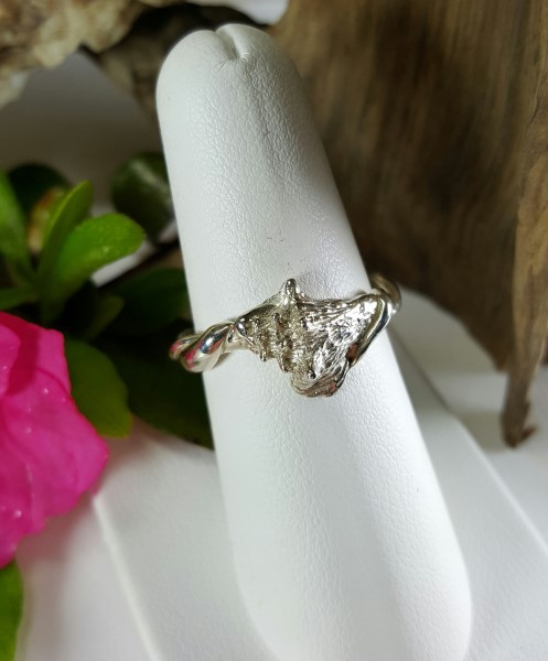 Conch Shell Ring Sterling silver sizes 5-8