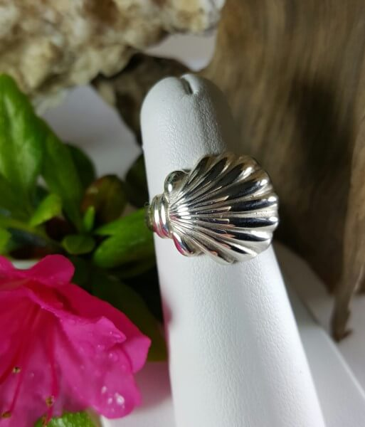 Scallop Shell Ring Sterling silver sizes 5-8