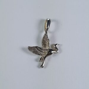 Heron Pendant Sterling Silver 3/4 inch