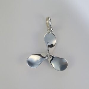 Propeller Pendant Sterling Silver 2 inch