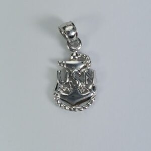 Fouled Anchor USN Pendant Sterling Silver 1 inch
