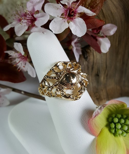 Bailey Crab Ring 14kt Yellow Gold sizes 7-10