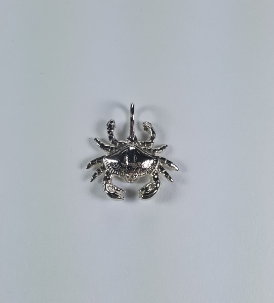 Bailey Crab Pendant Sterling Silver 1 inch