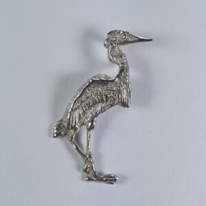 Standing Heron Pendant Sterling Silver 1-1/4 inch