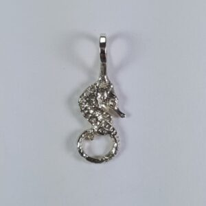 Seahorse Pendant Sterling Silver 3/4 inch