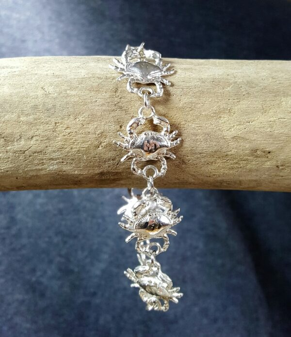 Bailey Crab Bracelet Sterling Silver sizes 7-8 inch