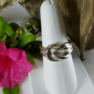 Knot Ring Sterling Silver sizes 6-10