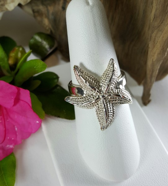 Starfish Ring Sterling Silver sizes 5-8