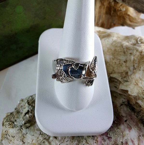 Large Mouth Bass Ring Sterling Silver sizes 8-15