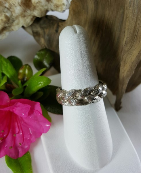 Braided Cable Ring Sterling Silver sizes 6-10