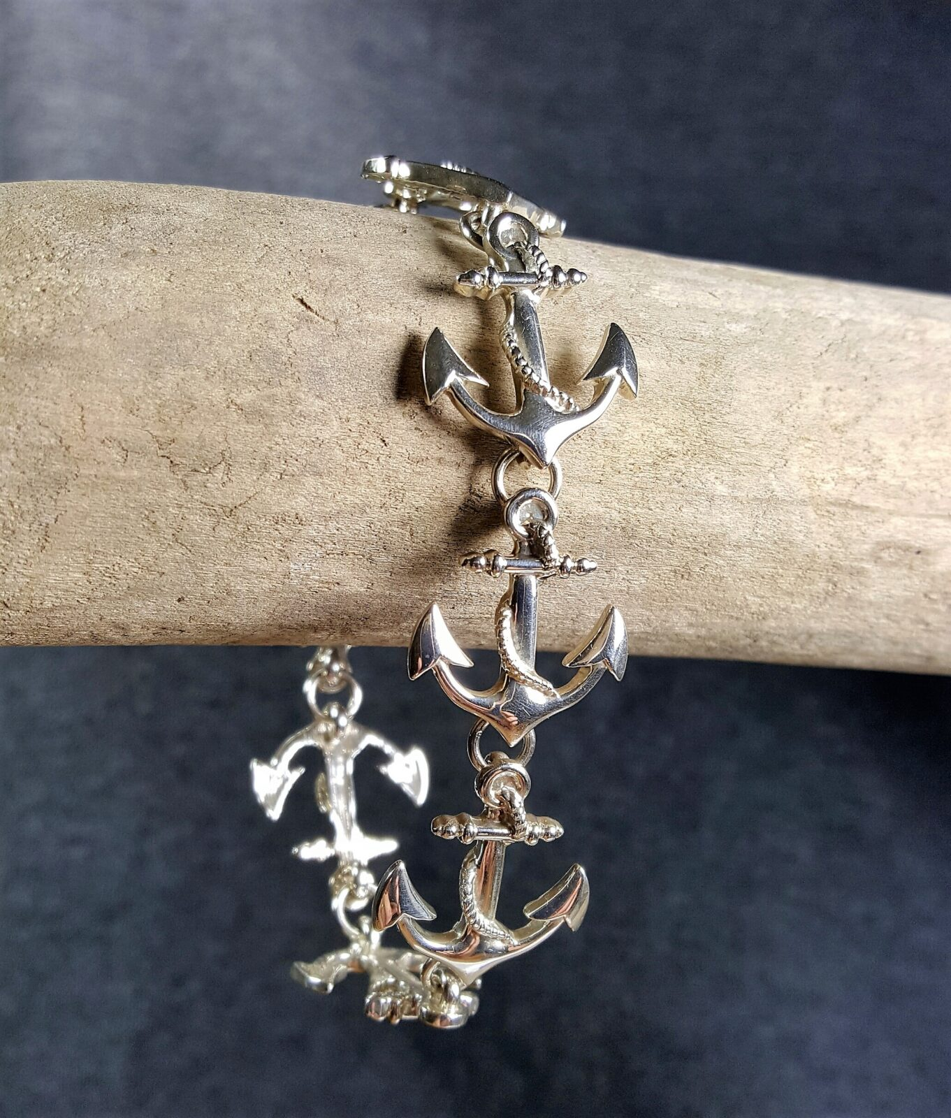 Anchor Bracelet Sterling Silver sizes 7-7.5 inch