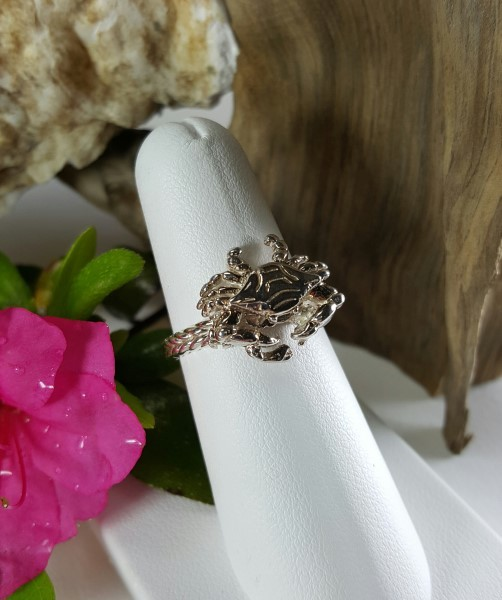 Doubler Crab Ring Sterling silver sizes 5-8