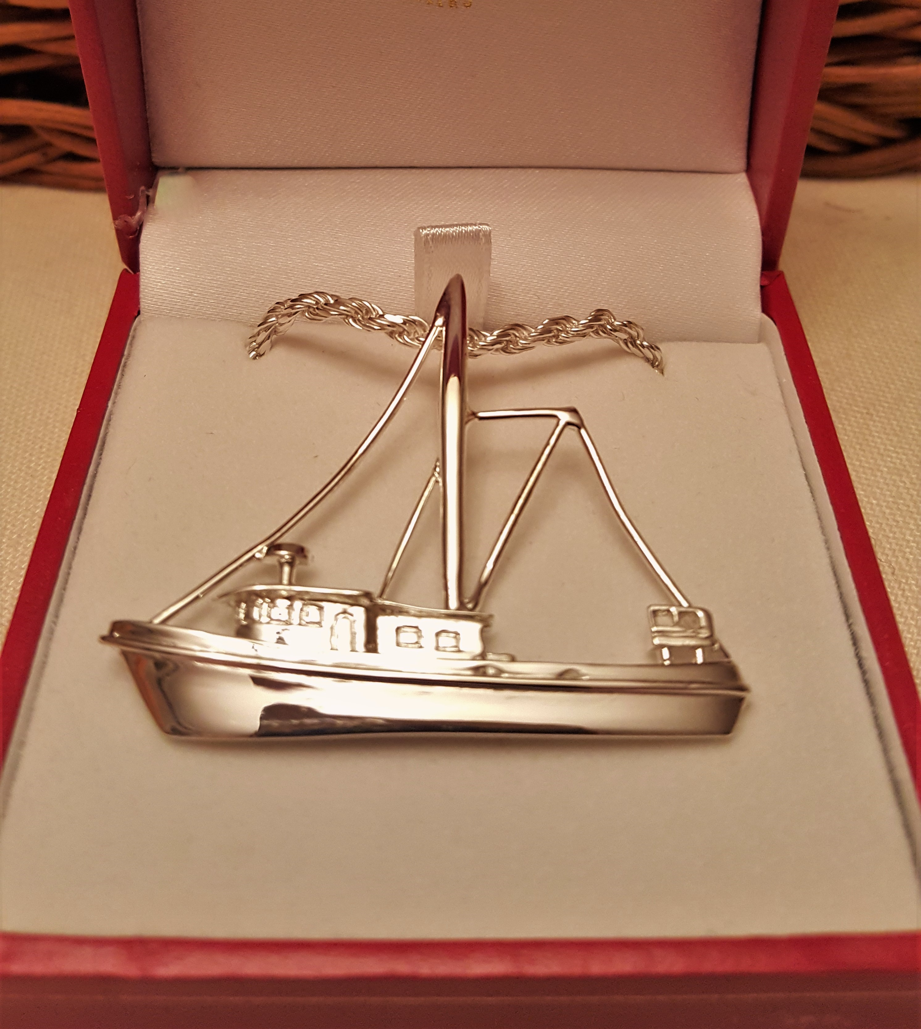 SS Shrimp Boat Trawler Pendant