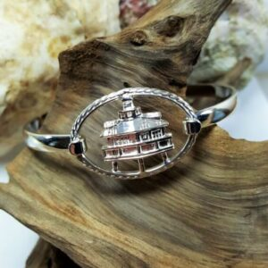 Screw Pile Light House Swap Top w Sterling Silver Swap Top bangle