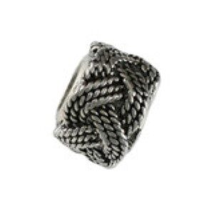 Turks Head Knot Bead Sterling Silver fits Pandora style bracelet