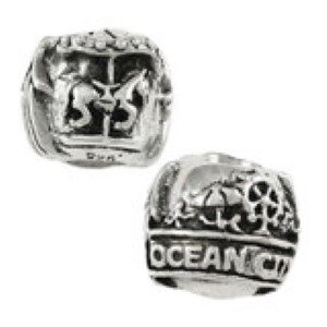 Ocean City Trimper Rides Bead Sterling Silver fits Pandora style bracelet