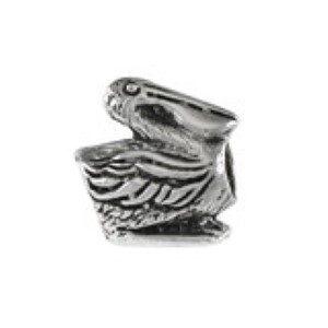 Pelican Bead Sterling Silver fits Pandora style bracelet