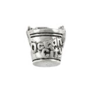 Pail & Shovel Bead w Starfish Sterling Silver fits Pandora style bracelet