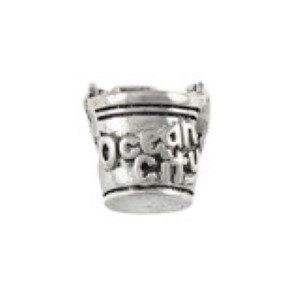 Ocean City Sand Pail Bead Sterling Silver fits Pandora style bracelet