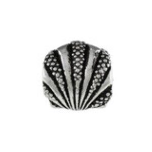 Scallop Bead Shell Sterling Silver fits Pandora style bracelet