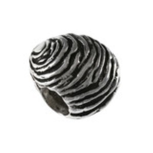 Clam Bead Sterling Silver fits Pandora style bracelet