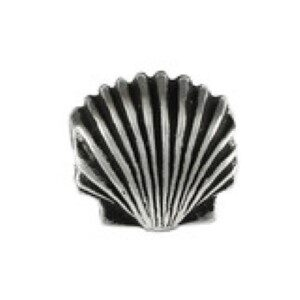 Scallop Shell Bead Sterling Silver fits Pandora style bracelet
