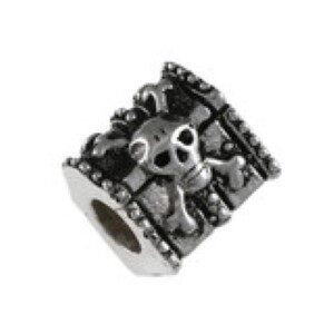 Pirate Chest Bead Sterling Silver fits Pandora style bracelet