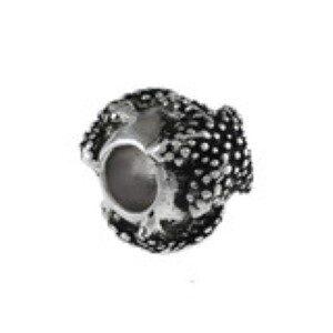 Starfish Cylinder Bead Sterling Silver fits Pandora style bracelet