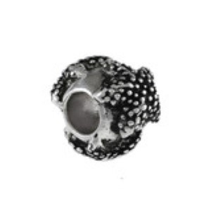 Starfish Cylinder Bead Sterling Silver fits Pandora style bracelet