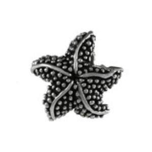 Starfish Bead Sterling Silver fits Pandora style bracelet