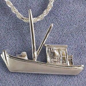 Buy Boat Pendant Sterling Silver 1-1/4 inch