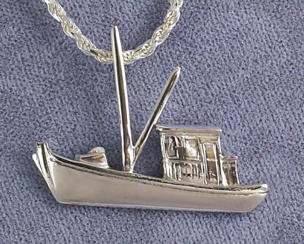 Buy Boat Pendant Sterling Silver 1-1/4 inch