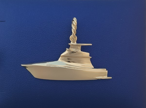 Gold Fly Bridge Cruiser Boat Pendant