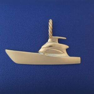 Gold Sport fishing Boat Pendant