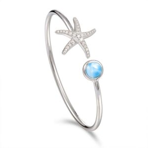 Sterling Silver Starfish with Crystals