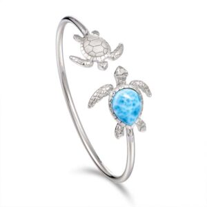 Sterling silver Double Turtle cuff