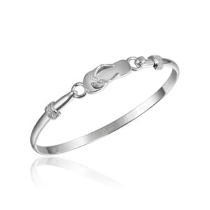 Sterling Silver Bracelet with beautiful Flip Flop hook.