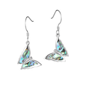 Butterfly abalone wire earrings alamea 039-52-31
