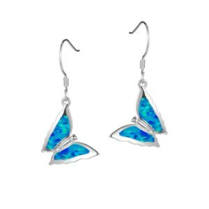 Butterfly Abalone inlay Sterling Silver Ear Wires