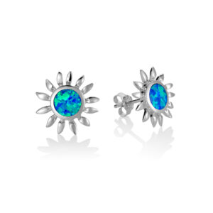 Sunflower Blue Opal Stud earrings