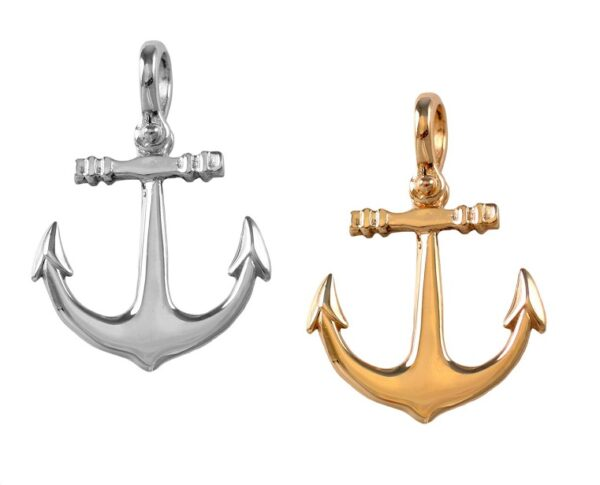 Anchor SS gold high polished, shackle