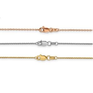 White yellow rose color gold cable chain