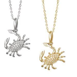Crab 14KY & diamonds yellow white