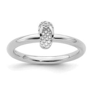 Flip Flop Stackable Ring Sterling Silver