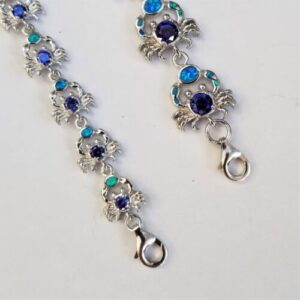 opal crab bracelet