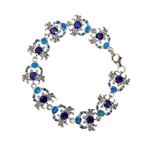 opal crab bracelet large