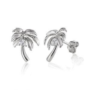 Palm Tree, palm, tree, ala ,earrings ,silver