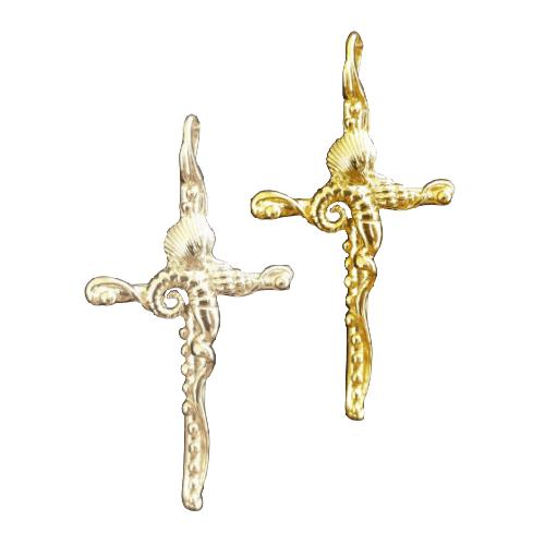 shell cross pendant
